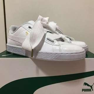 LNIB Puma Basket Heart (white) worn once only