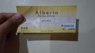 Alberto Shoes GC selling for PHP600 priced at PHP1000