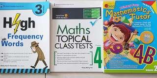 P3 English High Frequency Words. P4 Maths Topical class tests. Mathematics Tutor 4B. Assessment. 3 for $15. 1 for $6