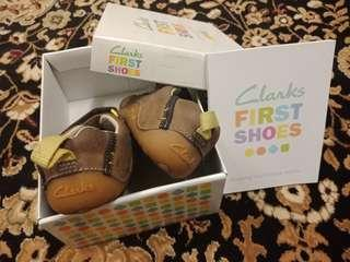Clarks First Shoes Cruiser Time Brown Leather