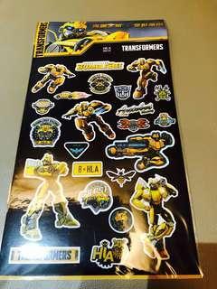 Bumblebee Transformer Stickers