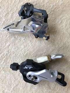 Shimano XT 2 x 10 Front Shifter SRAM  X7 FD