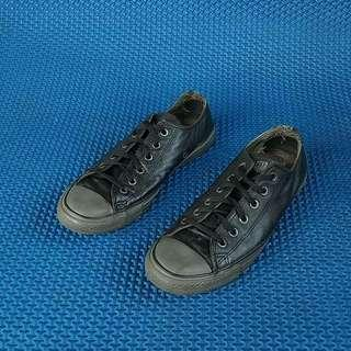 Converse ct low black leather