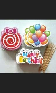 12 pieces birthday party dessert table cupcake topper
