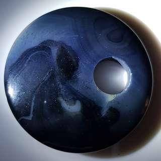 Dark blue agate pendant
