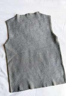 🚚 bnwot high collar ribbed heather grey tank
