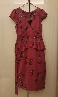 Dorothy Perkins Purple dress with swallows