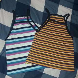 Bundle! (2) Striped halter top💋
