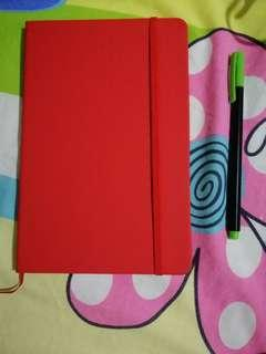 Notebook with garter