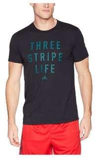 Adidas 3 Stripes Life tee (Medium)