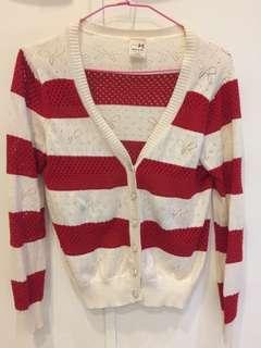 🚚 紅白氣質小外套
