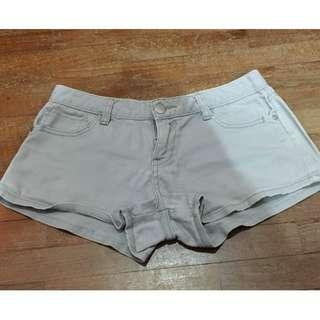 MISS CANDY Grey Low Waist Demin Jeans Shorts