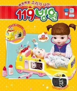 韓國直送 👩🏻⚕119救護車🚑醫院角色扮演🏥 玩具