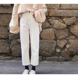 🚚 全新白色高腰褲