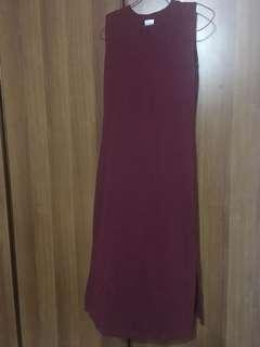 Maroon Dress CNY purpur