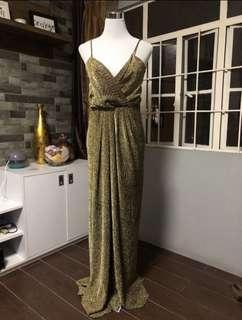 FOR SALE: METALLIC GOLD GOWN