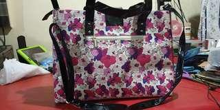 Fashion 2 way tote and sling bag