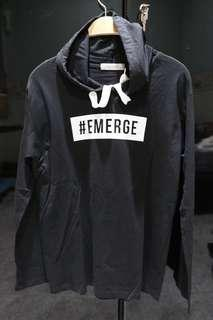 THIRDDAY T-shirt long sleeve with hoodie black #EMERGE