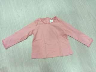 Authentic Baby Zara Pink Long Sleeve Top
