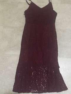 CNY Purpur maroon dress