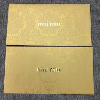 Miu miu 利事封 另代入利事服務每個$0.2