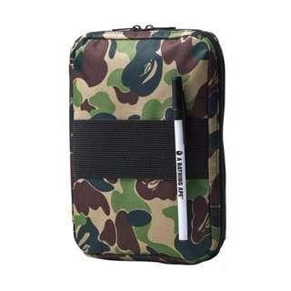 Instock! BAPE The Bathing Ape Camo Print iPad Mini Tablet Passport Case Organizer PO111500197 + FREE Post