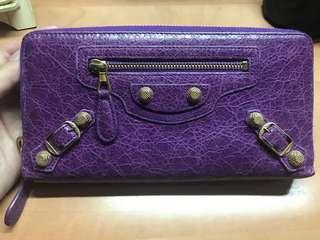 Balenciaga 拉鍊長Wallet (紫色)