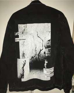 Bershka Ripped Denim Jacket (daleman busa)