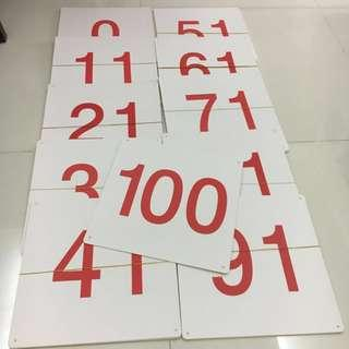 Numbers and Red Dots flash cards for baby / toddlers (0-100)