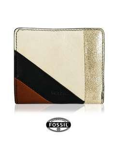 FOSSIL PATCHWORK SMALL PURSE (BROWN MULTI)