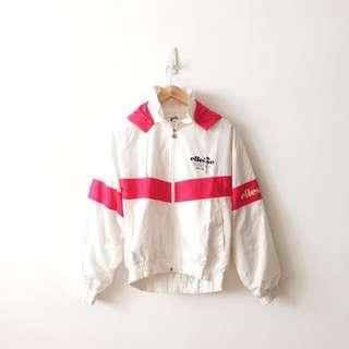 Ellesse Full Zip Spellout Windbreaker Jacket With Removable Hoodie