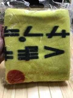 🚚 全新熊本熊kumamon黃色毛毯,材質:聚酯纖維
