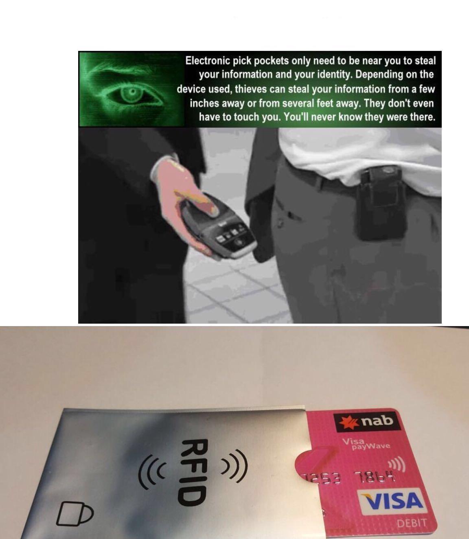 4 pcs - Anti RFID NFC Reader Prevent Credit Card Theft