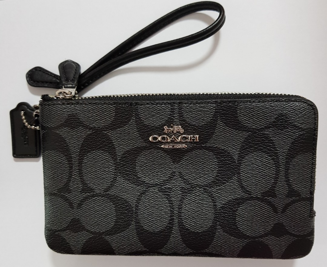 afadb6e7046a ☆ Brand New Authentic Coach Double Zip Wristlet in Signature Coated ...