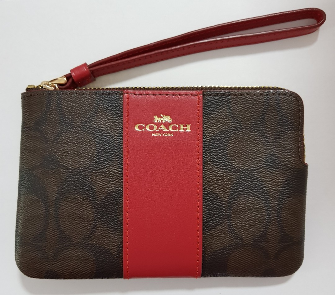 17cb50559e08 ☆ Brand New Authentic Coach Wristlet in Signature Coated Canvas ...