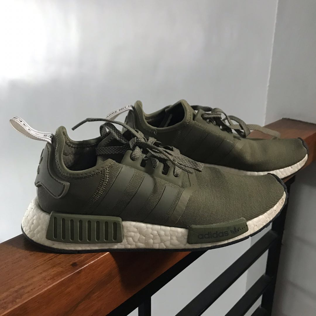 42529c292 Adidas NMD R1 Olive European Exclusive Sneakers