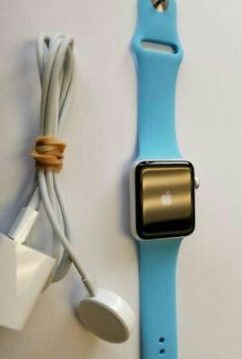 Apple Watch Series 3 GPS 42mm Space Gray Aluminum Case Blue Sport Band