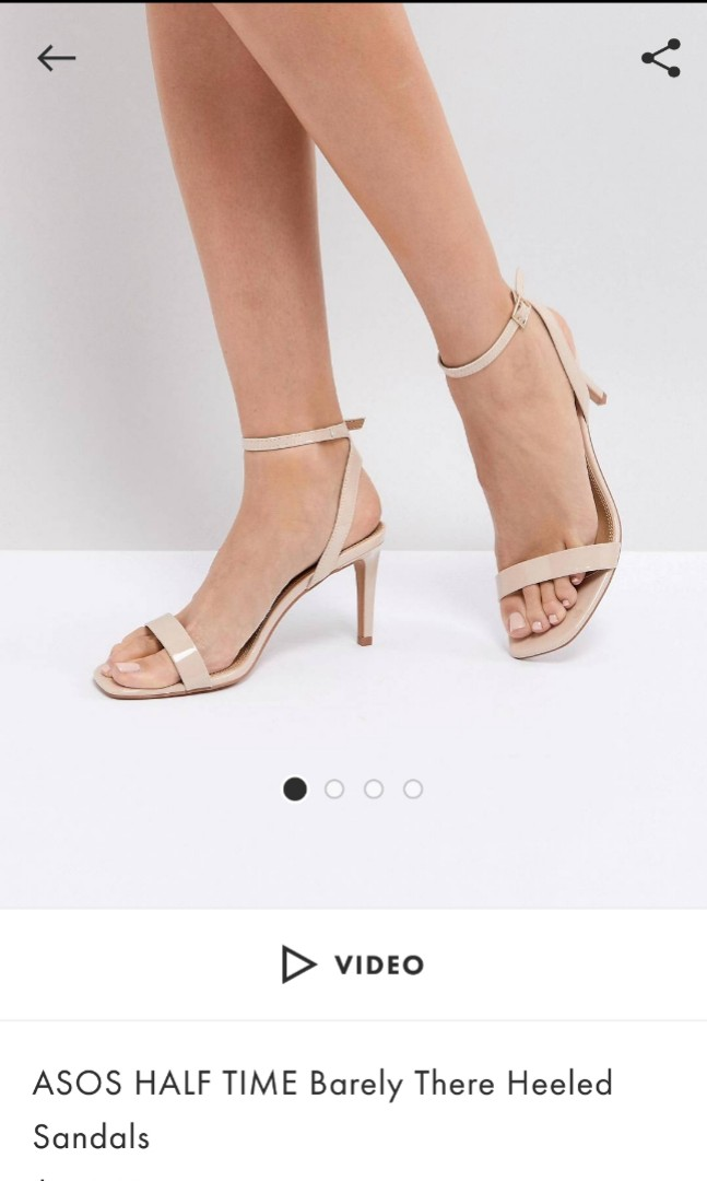 82bcef70b6fa ASOS HALF TIME barely there heeled sandals