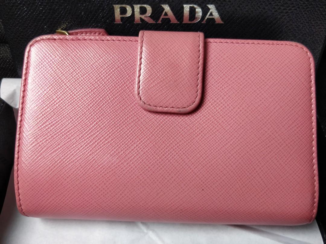Authentic Prada multi coloured saffiano leather wallet