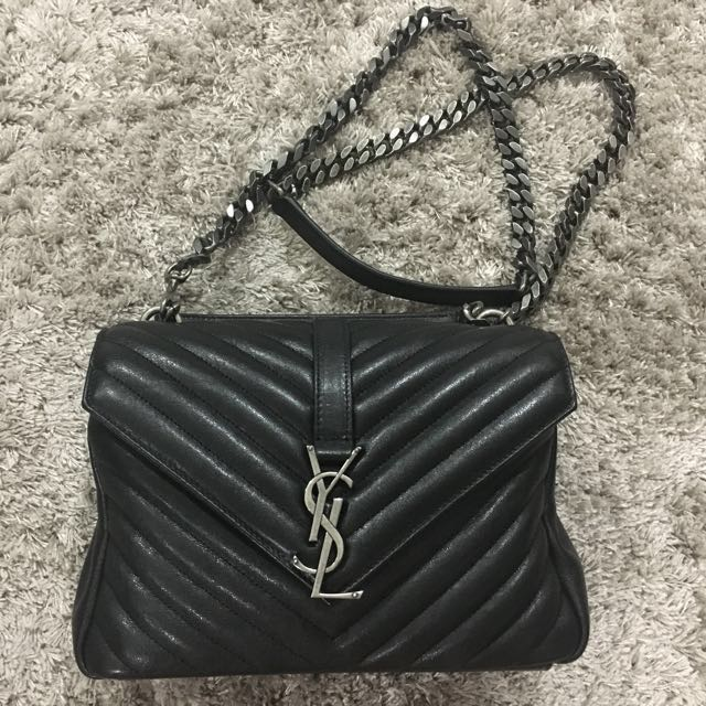 Authentic Saint Laurent Classic Medium College Bag a9aa74ac0fdfd