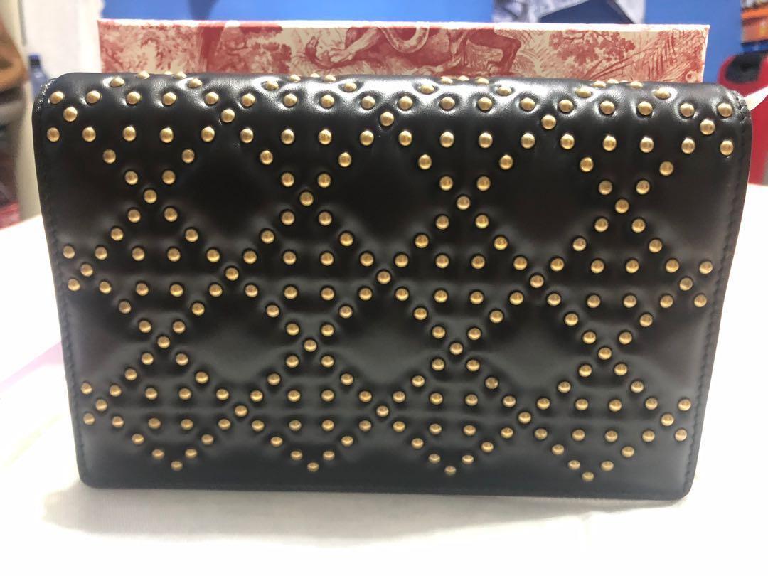 f5a9c2d9addee BNIB - Dior Studded Lady Dior Wallet on Chain Bag