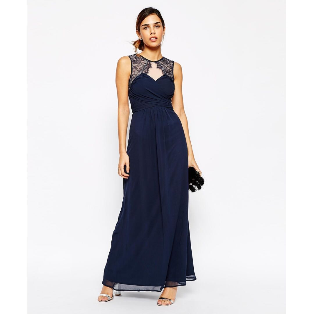 Ruched Bodice Maxi Dress