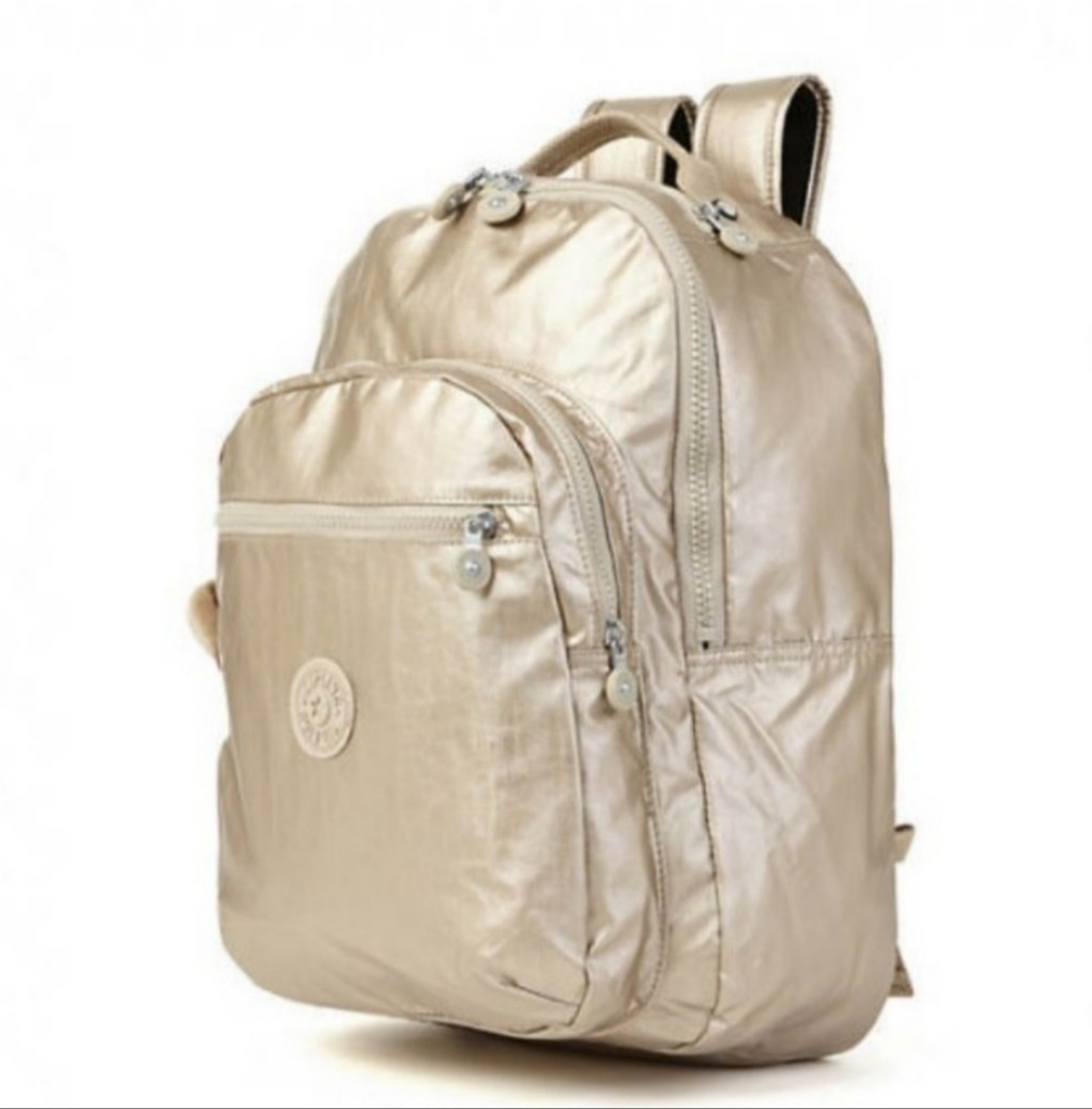 169aa5b525f Brand New Kipling Champagne Gold School Backpack Haversack Laptop ...