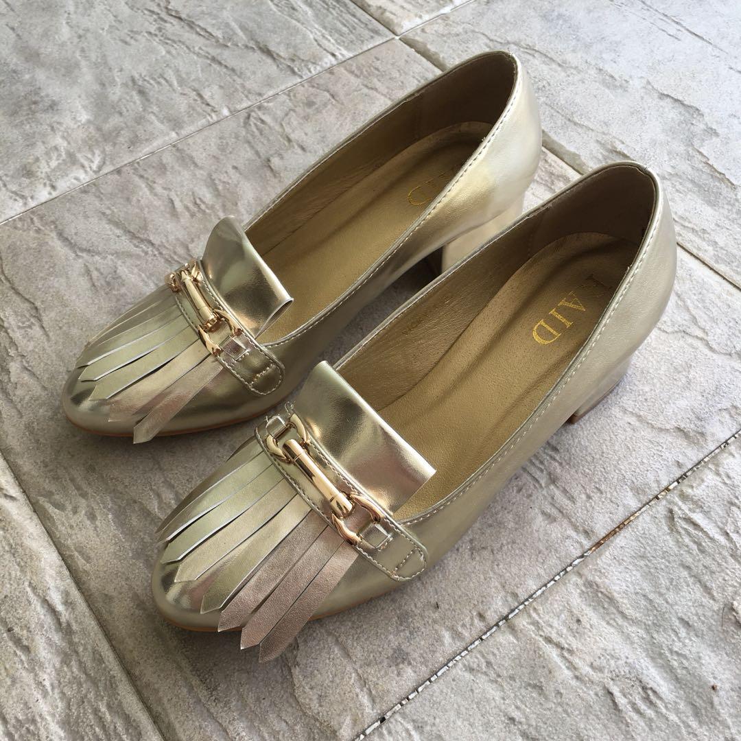 f5ff304fc6a1 Champagne Gold Heels