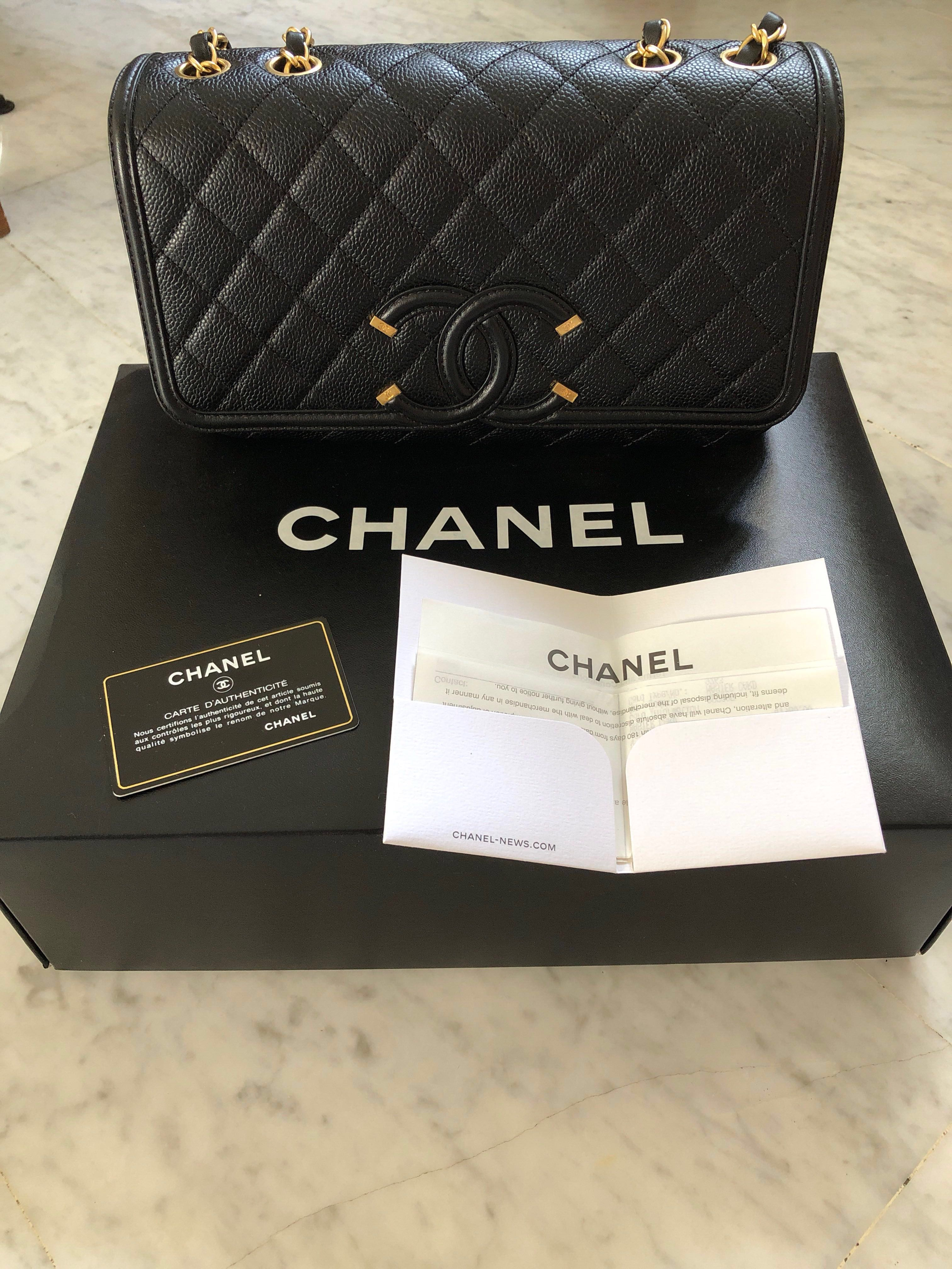 2f61aa6af7fb9c Chanel CC Filigree Flap Bag, Luxury, Bags & Wallets, Handbags on ...