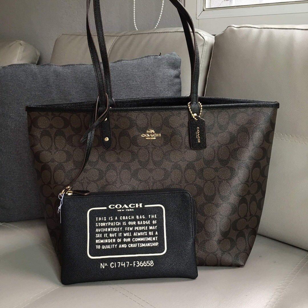 d1ebf0f9e4b1 Coach Reversible Tote Bag