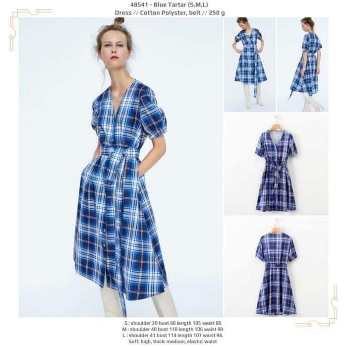 Dress 48541 - Blue Tartar