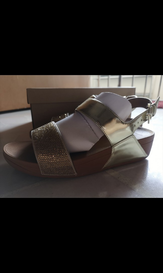 b01a8724209 Fitflop Ritzy Back-Strap Sandals - Gold