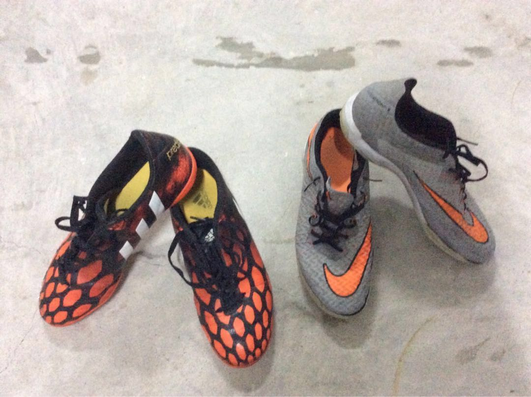 e96c810fc02 Football shoes soccer indoor cleats boots studless Nike Hypervenom Adidas  predito for street soccer