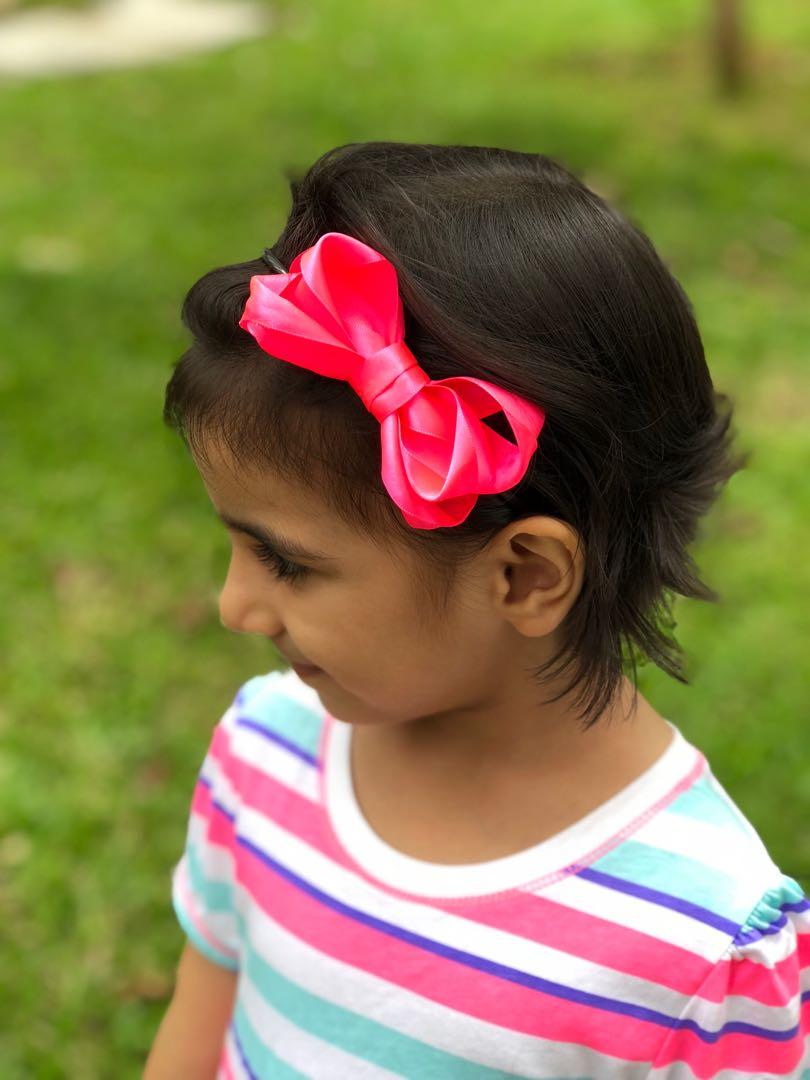 fb37bd5e59d3 Headband   hair band   neon pink bow   bow headband   baby headband ...